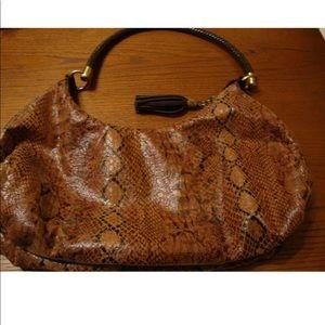 Bueno Handbag Faux Leopard Brown